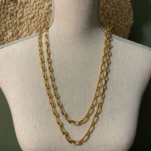 "J CREW 53"" Gold Chain Link Opera Necklace"